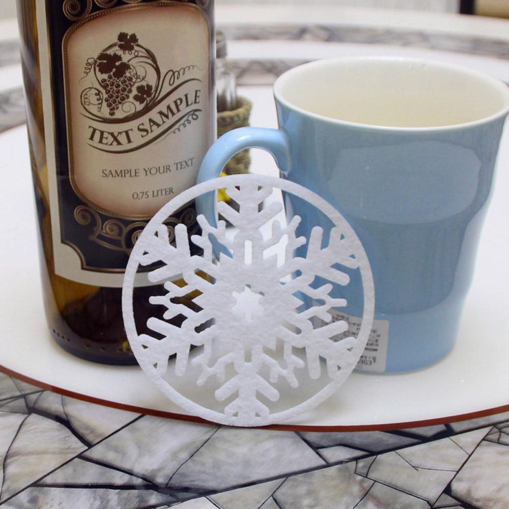 2 шт. Рождество Кофе грунтовых вод снежинка Coaster изоляции Pad Coaster салфетка оптовая продажа бесплатная доставка