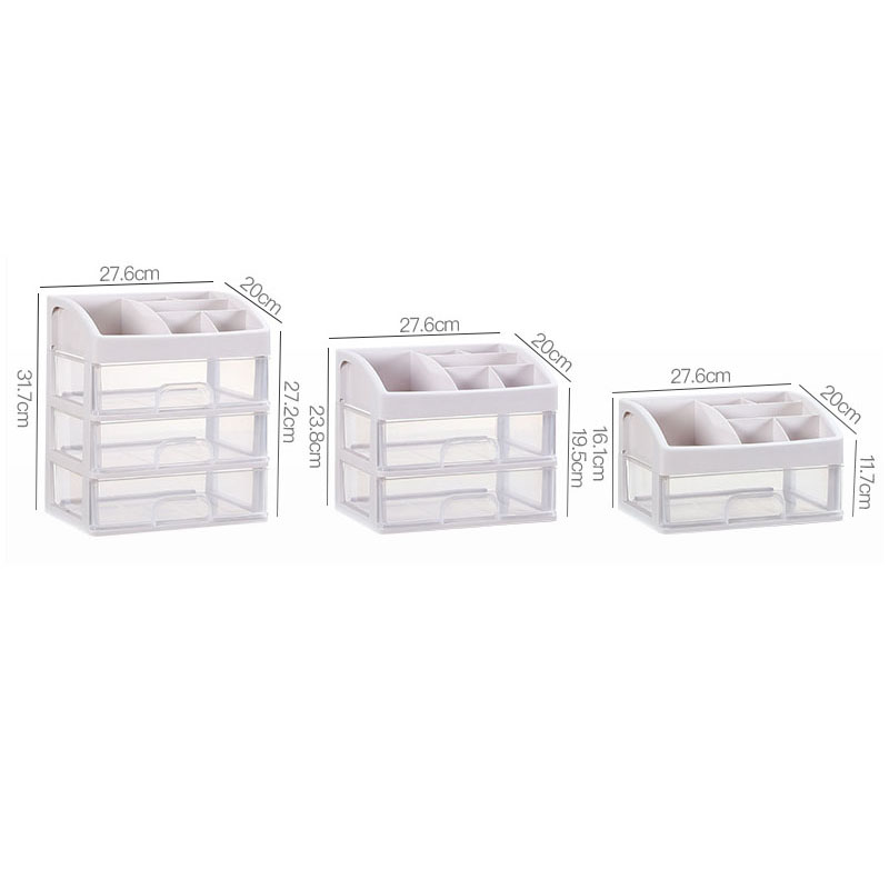 Plastic Cosmetic Storage Box to Organize Makeup with Drawers for Dressing Table of Women 5