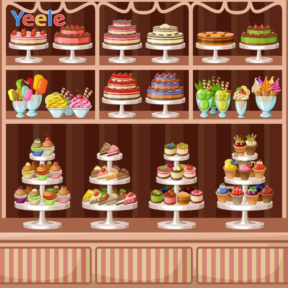 Yeele Vinyl Cakes Dessert Children Birthday Party Photograph Backdrop Baby Girl Princess Photocall Background Photo Studio in Background from Consumer Electronics