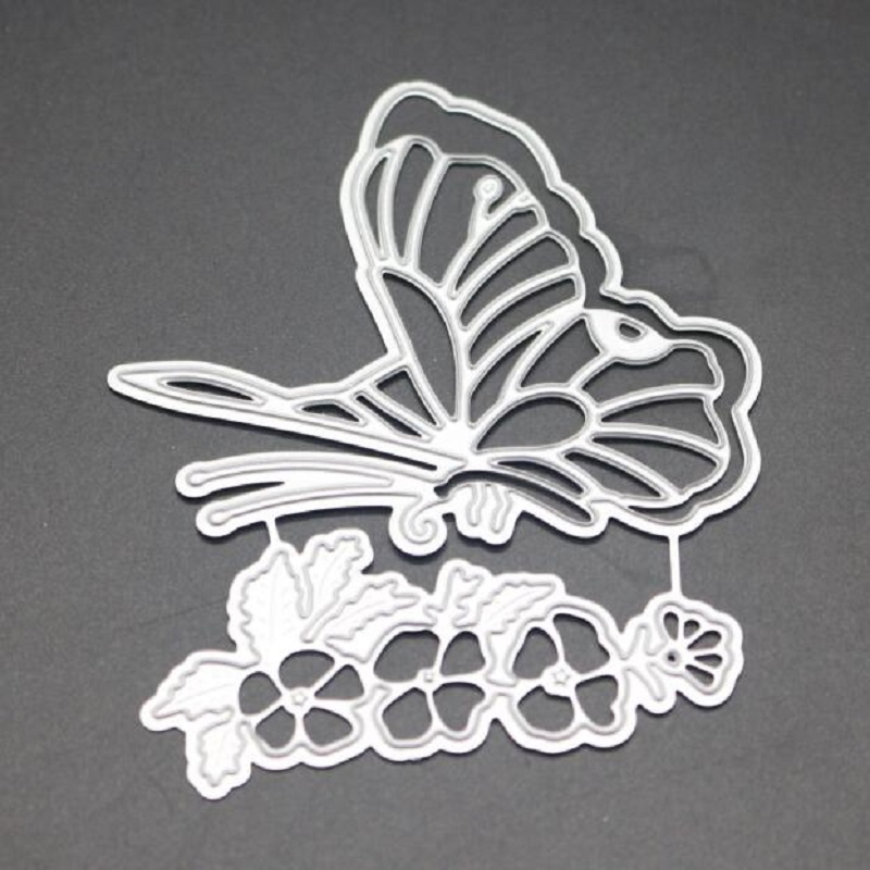 FeLiceart buttterfly flower scrapbook dies metal cut for embossing albulm photo decorative paper craft card stencil making 2019 in Cutting Dies from Home Garden