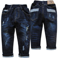 4014 hole jeans pants baby jeans baby boy denim pants spring autumn trousers baby fashion navy blue nice simple new