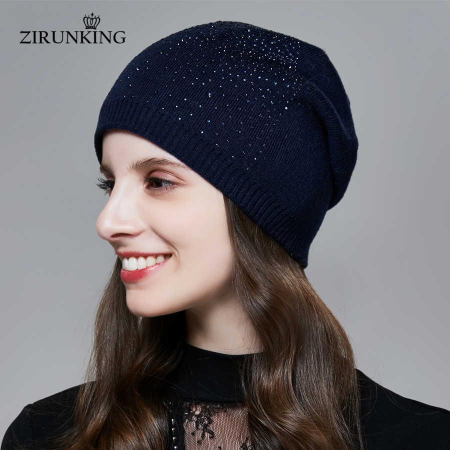 Zirunking novas mulheres tricô chapéu moda feminina primavera bonés casual atumen beanies para mulher zh1716