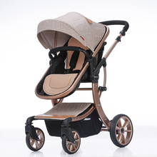 High Landscape Luxury Aluminum Alloy Baby Stroller Can Sit Reclining Two-way Sho