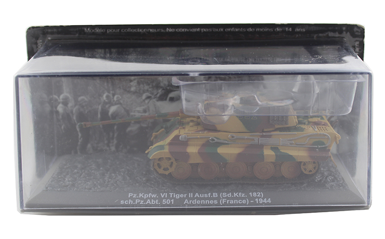 rare IXO 1/72 Germany Pz.Kpfw.VI Tiger Ausf.B II heavy tank model Alloy collection model Holiday gift atlas 1 43 germany horch kfz 15 military command reconnaissance vehicle model alloy collection model holiday gift