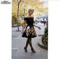 Spot Wholesale Selling Women S Sexy Dress One Word Collar Strapless Slim Big Swing Printing Dress