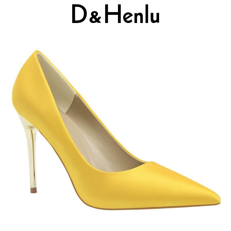 {D&Henlu} Plus Size42 43 Shallow Pumps Women Shoes Big Size Heels Wedding Shoes Party High Heels Women Size Small Shoe 12color sandals small open toe shoe 32 paillette bow 33 hasp high heeled shoes wedding shoes plus size women s shoes 43 free shiopping