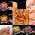 1 Caja De Mezcla 1-3mm Glitter Nail Holográfica Holo Lentejuelas Brillante Ultrafino Ronda Glitter Manicura Del Arte Del Clavo de Acrílico Dots Estilo de Uñas