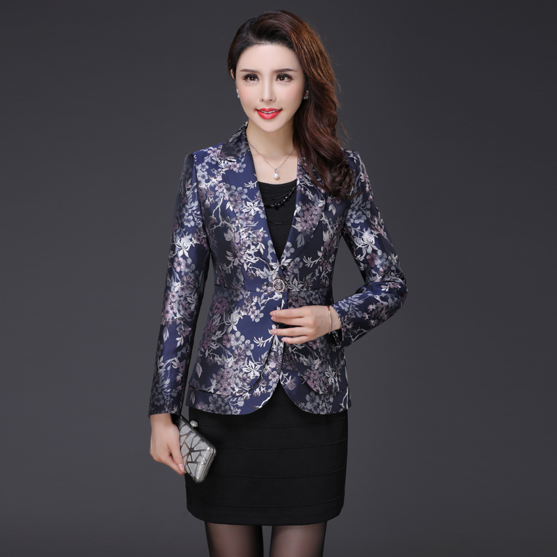 2018 New Autumn Jacket Blazers Women Plus Size Small Suit Jacquard Blazer Tops Femenino Ladies ...