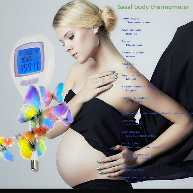 Digital Basal Body Thermometer/digital Thermometerr/female Thermometer To Observe The Ovulation Time, High Accuracy Large LCD