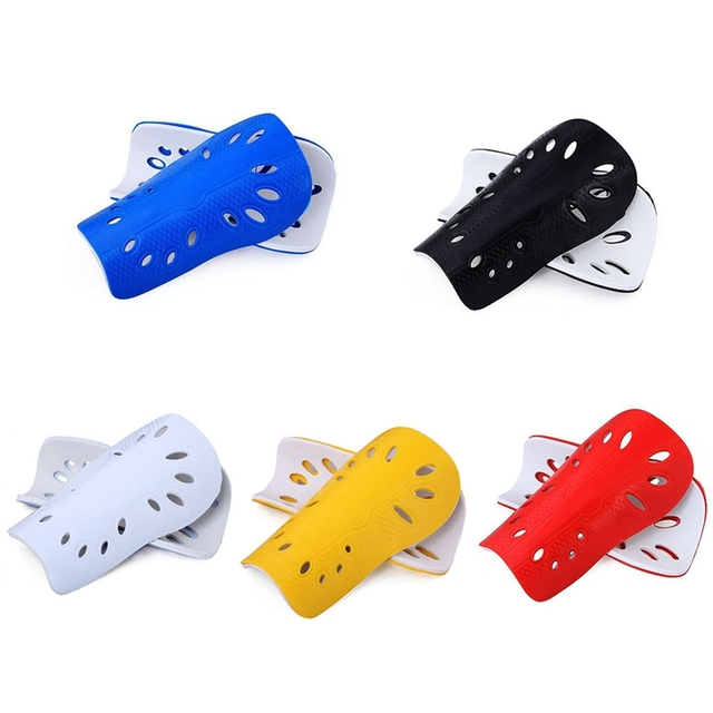 1 Pair Football Shin Pads Plastic Soccer Guards Leg Protector For Kids Adult Protective Gear Breathable Shin Guard 5 Colors