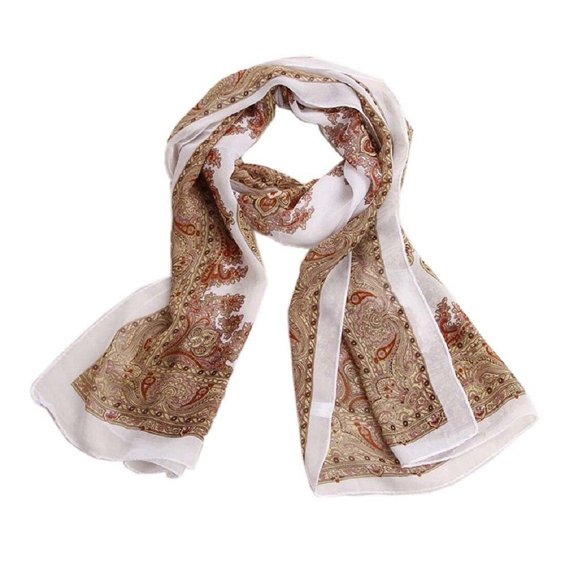 Women's Fashion Sweet Chiffon Long   Scarf     Wrap   stole Shawl   Scarves   Beige