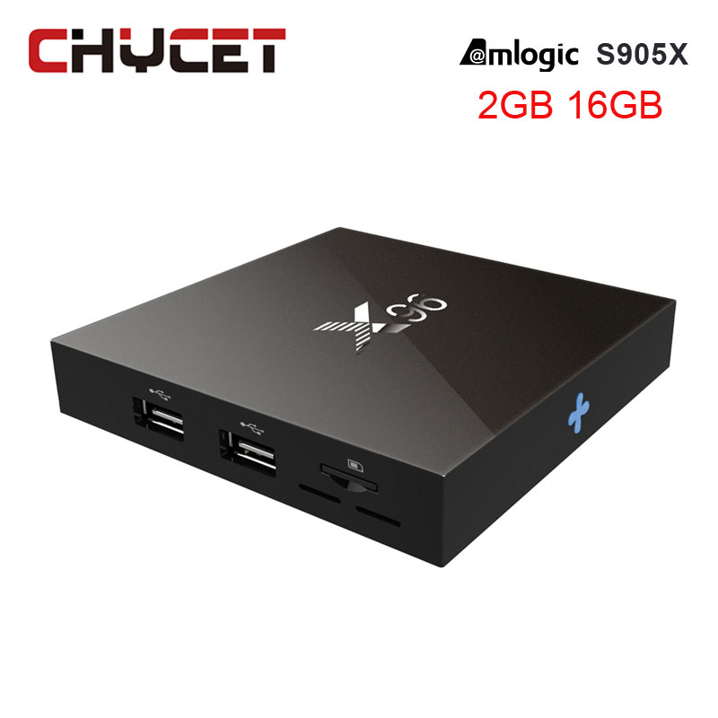 лучшая цена Chycet X96 TV Box Smart TV Box 2GB 16GB Amlogic S905X Quad Core WIFI HDMI 4K*2K HD Set Top box Smart Media Player Android 6.0