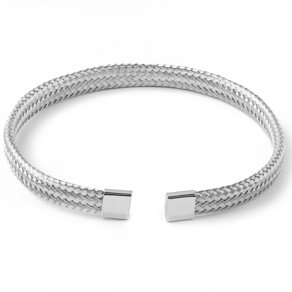 DIY Handmade 8MM Encryption Flat Thin Wire Styles For Men and Women Braided Bracelet