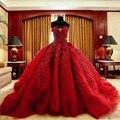 Vestidos de luxo À Noite Vestidos de Trem Tribunal Renda Apliques Beading Lantejoulas vestido de Baile Plissado Laço Vermelho Vestidos de Baile Árabe