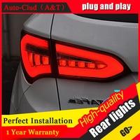 AUTO CLUD 2013 2014 For hyundai IX45 taillights car styling led guide bar fog lamps For hyundai ix45 SantaFe led rear lights