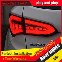 AUTO CLUD 2013 2014 For hyundai IX45 taillights car styling led guide bar fog lamps For hyundai ix45 SantaFe led rear lights