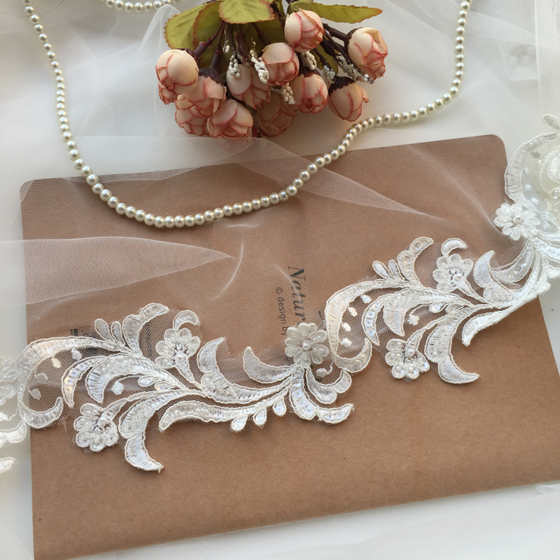 Silver Sequin lace trim ON SALE 40mm 4 Cm Stunning A* quality trim Costumes