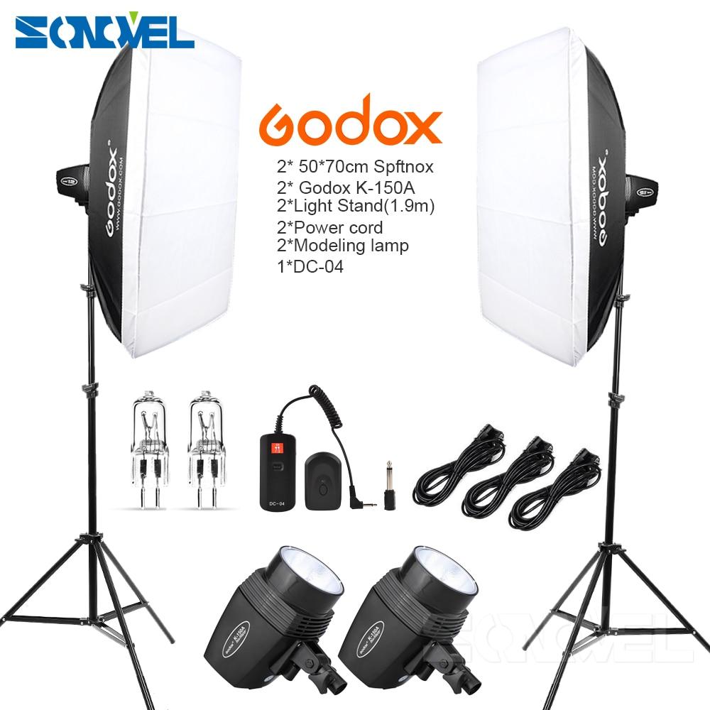 Godox K150A 300Ws 300 w 2*150 Ws Studio Strobe Chambre Photo Studio Photographie Éclairage avec Softbox DC-04 flash trigger Kit