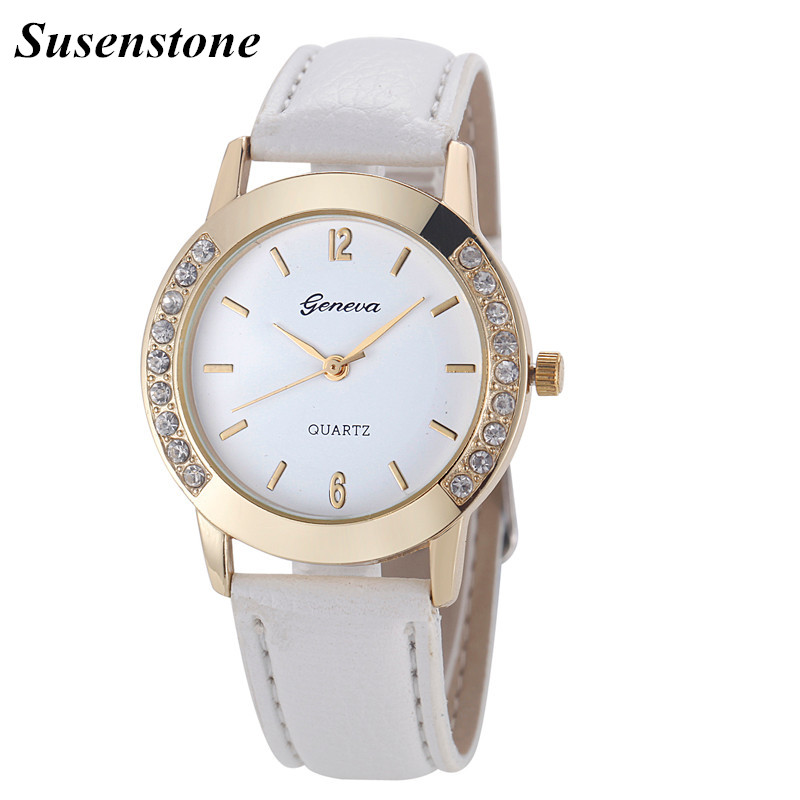 Mance 12 Color 2016 Hot Sale Fashion Elegan Women Geneva Diamond Analog Leather Quartz Wrist Watch Watches relogio feminino Gift mance new fashion brand women s watches luxury geneva faux leather analog quartz wrist watch relogio feminino quality gift