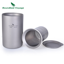 Boundless Voyage Titanium Coffee Tea Cup with Filter Outdoor Camping Portable Double-wall Mug Tableware 350ml стоимость