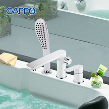 GAPPO 1set high quality waterfall bathtub sink faucet torneira mixer cold&hot water restroom sink tap grifo handshower set G1148
