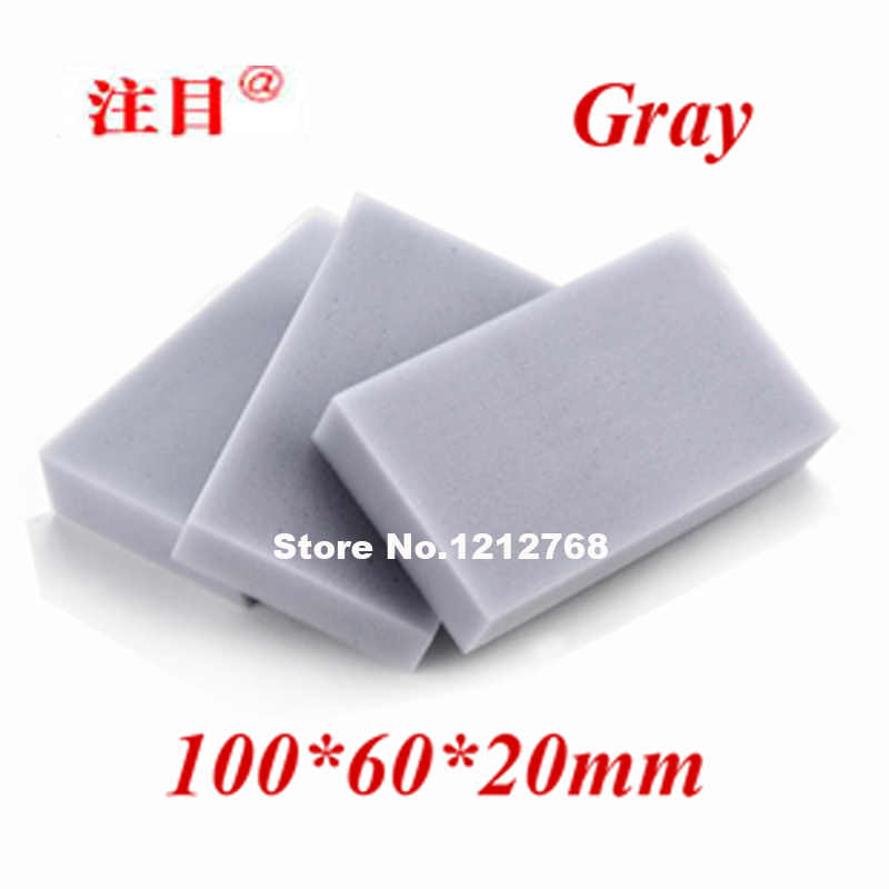 100 Pcs Magic Spons 100*60*20 Mm Melamine Spons Gum Multifunctionele Sponge Grijs