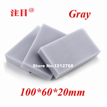 100pcs/lot, Free Shipping Magic Cleaning Sponge 100*60*20mm Melamine Sponge Eraser Multi-functional Sponge Gray(China)