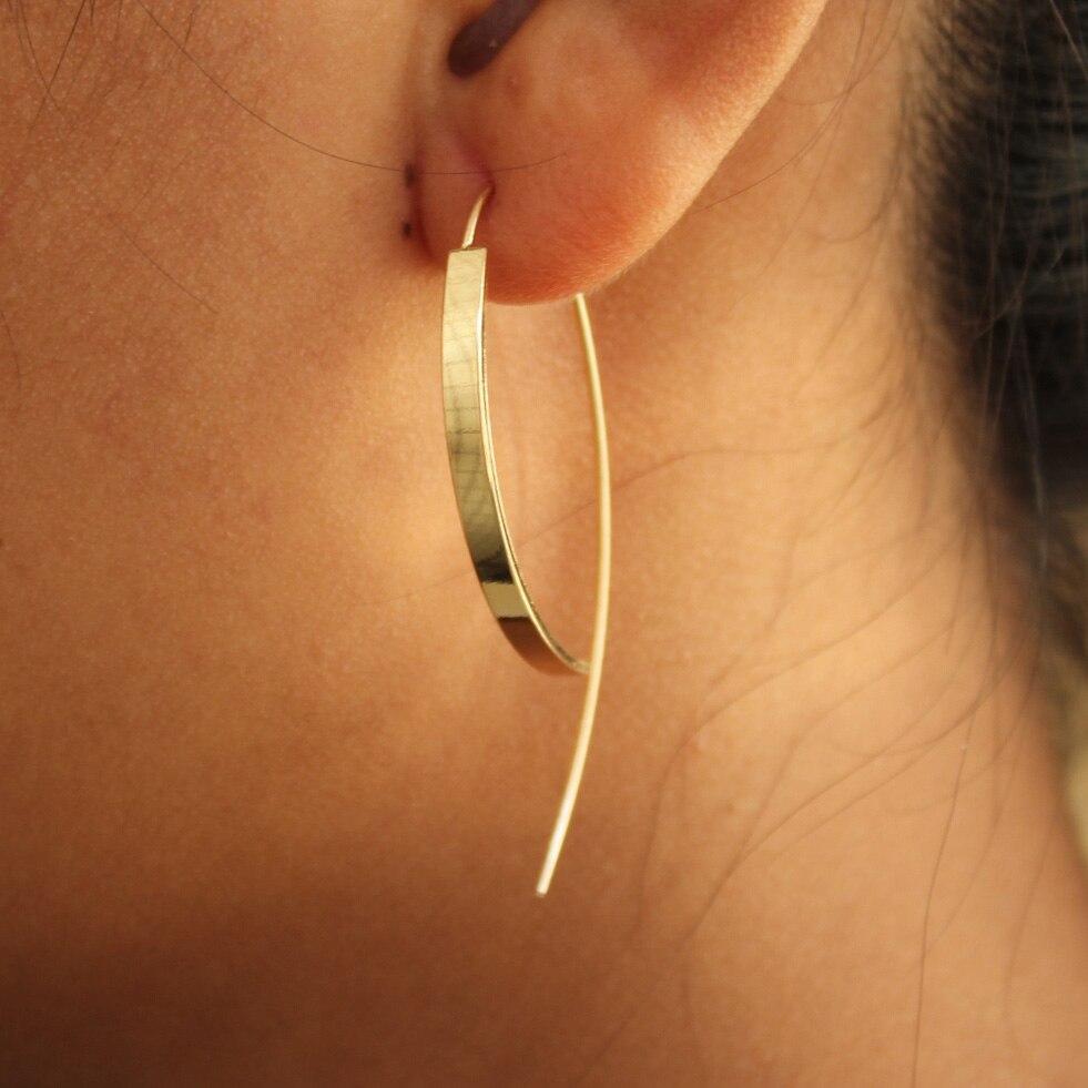 Trusta 1Пара сән жаңа алтын / күміс түсті - Сәндік зергерлік бұйымдар - фото 3