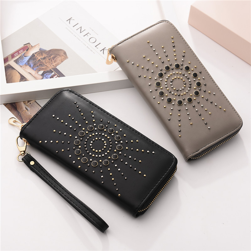 2018 Fashion Women Wallet Female Plain Wrist Purse Female Multi Card Zipper Wallet Pouch Portefeuille Femme Carteira Feminina 2018 women wallet female purse long horn deer iron side wallet carteira feminina purse female portefeuille femme wallet