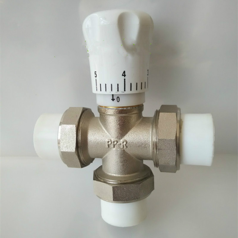 Brass ppr three-way valve PPR Radiator Manual adjustment DN25 DN32 free shipping quality enviromental friendly ppr controlling valve in size dn25 with slow turning handle for housing pipe