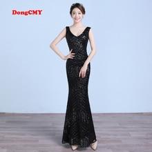 DongCMY CG1089 New 2017 long formal mermaid high quality vestido longo deep V-neck plus size evening dress