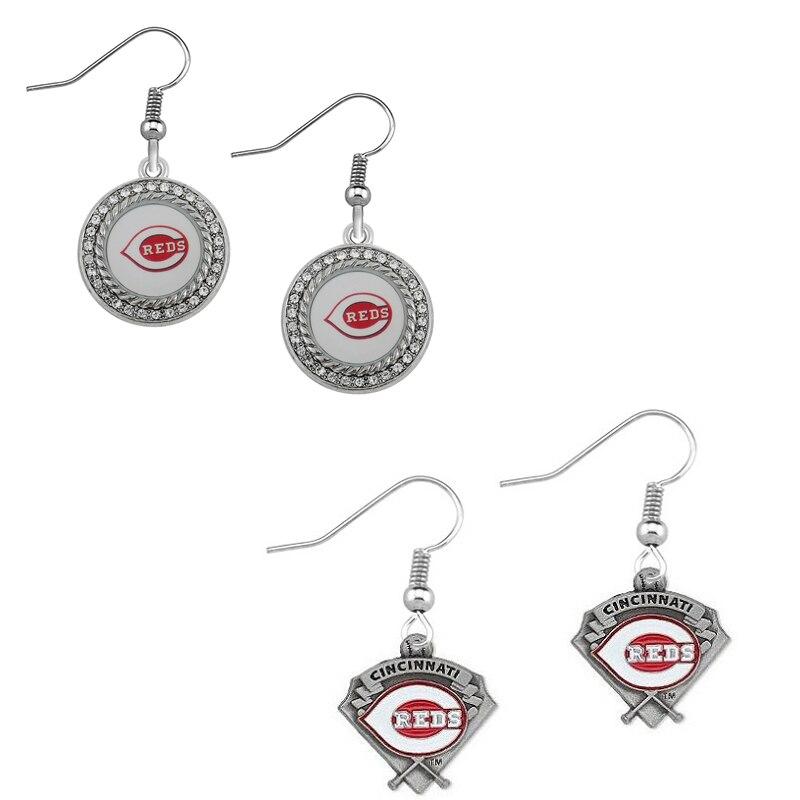 5Pairs Cincinnati Reds Metal Alloy Sport Team Drop Earrings Baseball Sport Jewelry For Fans Jewelry Earrings