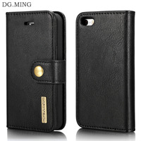 DG MING For Apple IPhone 5s Case Luxury Genuine Leather Hard PC Magnetic Protective Flip Phone