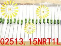 100% Original LF 3.15A 125V 2.4*7mm 02513.15 Axial Lead Green Fuse 3150mA Fast Blow PICO Resistance Fuse 02513.15NRT1L x 100PCS