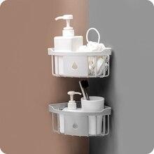 Plastic bathroom storage Corner Storage Rack organizer Shower Shelf household items suction shelf soap holder