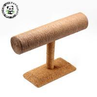 PandaHall T Bar Straw Rope Bracelet/Bangle Display Stands, BurlyWood, 24x18x7.4cm
