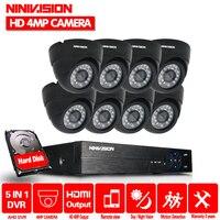 8CH 2MP 4MP 5MP HD AHD NVR DVR комплект видеонаблюдения 8 шт. 4.0MP купольная камера для помещений комплект домашней безопасности камера CCTV система протоко