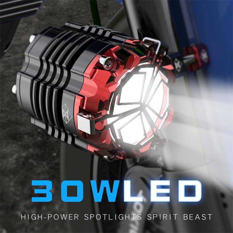 Мотоцикл освещение аксессуары фар 24 В 48 В 60 В фары светодиодный супер яркий Мотокросс вспомогательный стробоскопы Бесплатная доставка