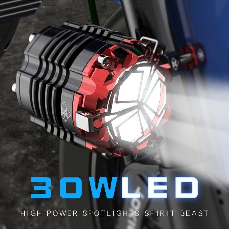 Moto éclairage accessoires phare 24 V 48 V 60 V projecteurs LED Super lumineux motocross auxiliaire lumières Stroboscopiques Livraison gratuite