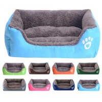 Caçoa e inverno quente canil para gato filhote de cachorro aquecimento casa do cão material macio ninho cestas cama para cão gato de estimação camas do cão