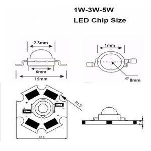Image 5 - 100 teile/los 3W 45mil 380nm 840nm 3,2 3,6 v 700mA Volle Geführte spektrum Wachsen Licht Dioden Für anlage Wachsen mit 20mm Schwarz PCB stern