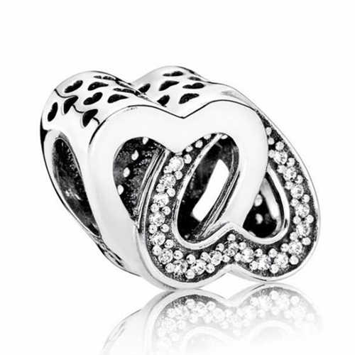 Luxurious Simple Style Small Apple Star Anchor Love Heart Crystal Beads Fit Pandora Bracelets for Women DIY Charm Jewelry Bijoux