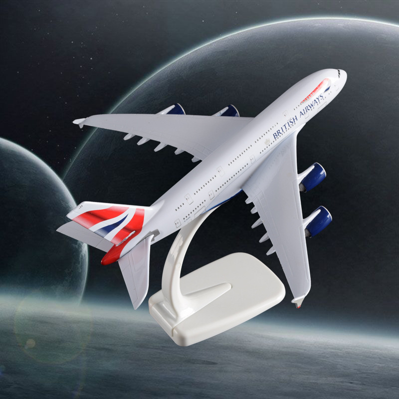 20cm A380 Great British Airplane Model England Air Passenger Airbus Alloy Aircraft Airwa ...