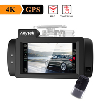 Anytek G200 Car DVR Camera WDR Night Vision GPS Logger Car DVR Dash Camera with 2.7in Touch Screen Dual Lens