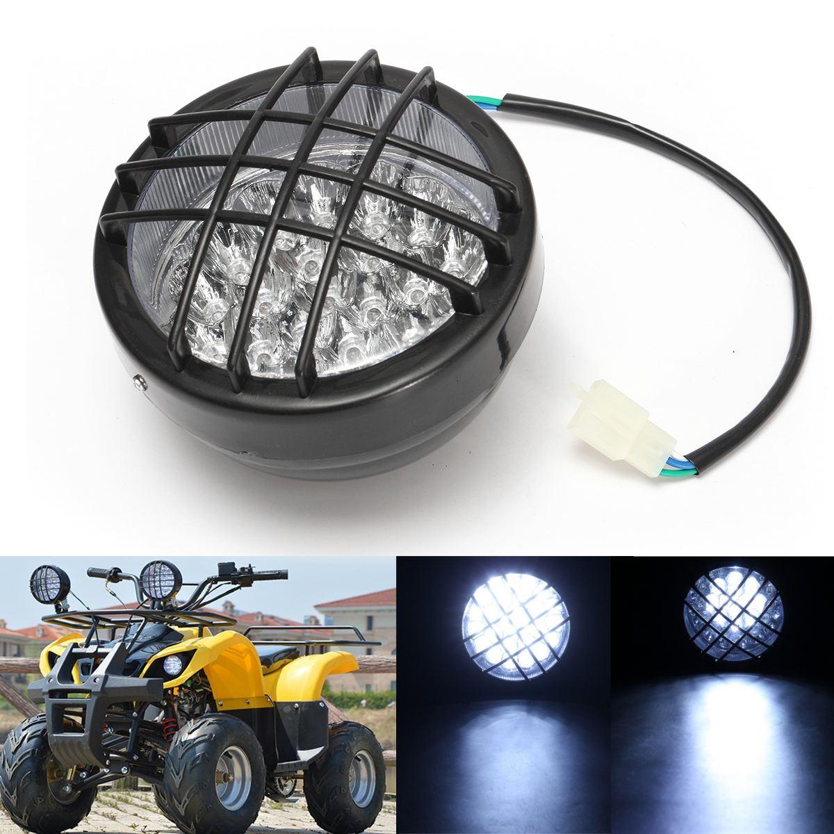12V Front 27 LED Motorbike ATV Headlight Fog Lamp Spotlight For ATV Quad 4 Wheeler Go Kart Roketa SunL Taotao