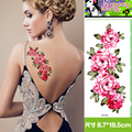 2 Pcs/Lot Elegant Women Sexy Large Pink Flowers Temporary Tattoo Stickers Fake Tattoos Waterproof Female Body Art Tattoos Adult