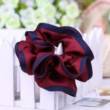 JZJR Free Shipping New Headband Satin Hair Scrunchies for Girls Scrunchie Accessory Elegant Turban Band Korea Style