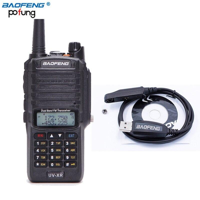 Baofeng UV-XR 10 Вт высокое Мощность 4800 мАч Батарея IP67 Водонепроницаемый Dual Band рация двухстороннее радио + один кабель для программирования с CD