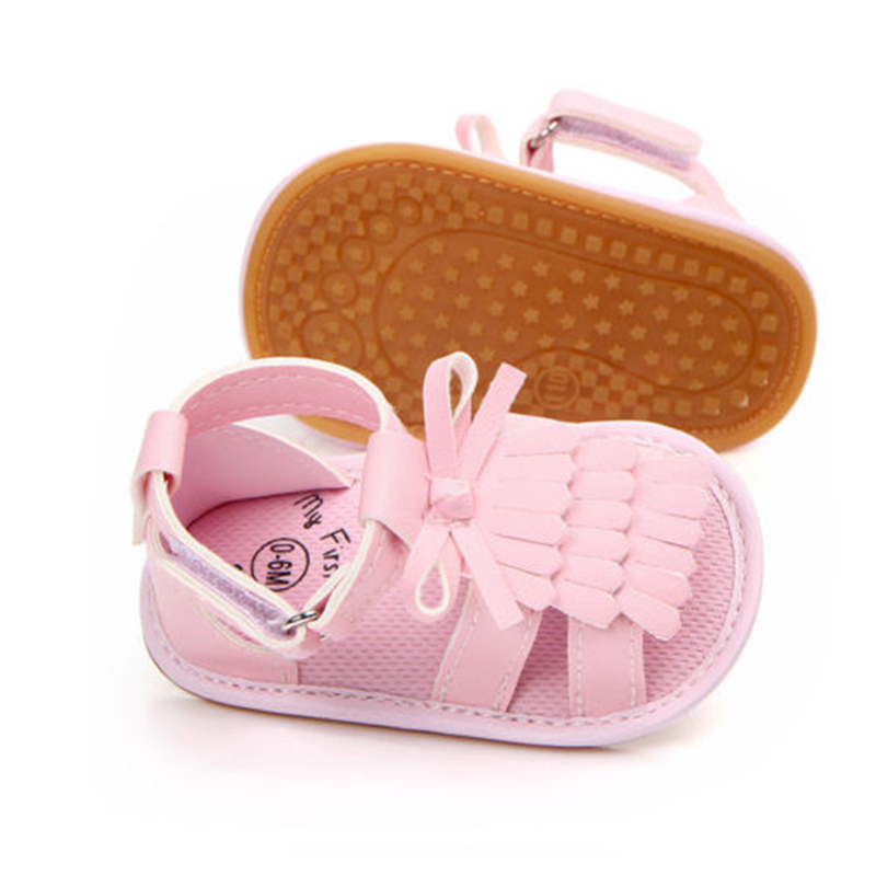 c99f7ed5d4f 2018 Summer Baby Girls Kids Cool Crib Pink Gold 2Colors Shoes Tassel Anti  Slip Soft Sole Prewalkers-in Sandals from Mother   Kids on Aliexpress.com  ...