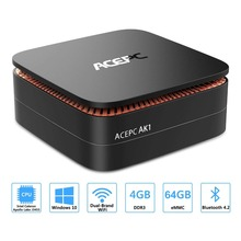 ACEPC AK1 Windows 10 Mini PC desktop Gaming computer Intel Celeron J3455 4G 64G 12V 2HDMI